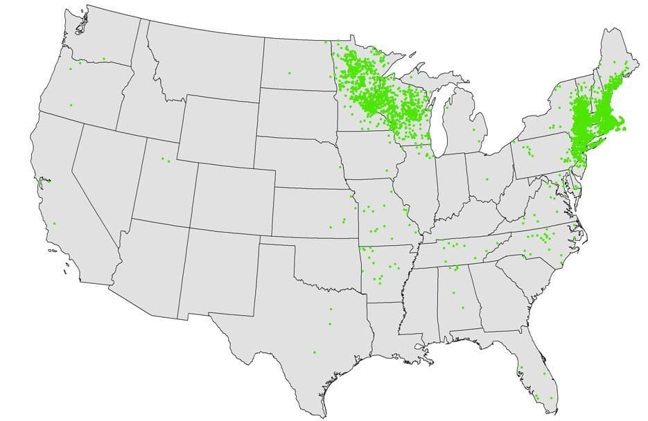 Anaplasmosis Map United States